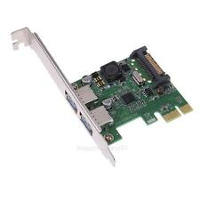 PCI-E Express x1 to 2-Port USB 3.0 Controller Card Adapter Hub 5Gb/s Super-speed