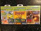 7 LeapFrog LEAPSTER 1 I 2 II GAMES SCOOBY-DOO! INCREDIBLES RATATOUILLE SPONGEBOB
