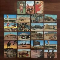 VINTAGE LOT of 22 Native Americana WESTERN POSTCARDS MOST UNPOSTED