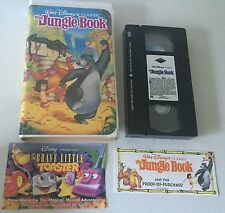 Walt Disney VHS Black Diamond Rare The Classics The Jungle Book With Inserts NM