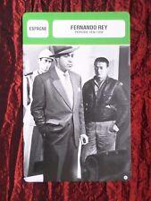 FERNANDO REY -  MOVIE STAR - FILM TRADE CARD - FRENCH - #1