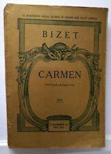 Carmen (Opera), Bizet, Sheet Music, ca 1923, Schirmer