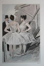 Eau-forte aquarelle pochoir La Femme à Paris Pierre Vidal Fred. Massé Uzanne 9