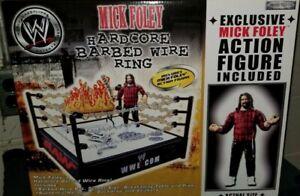 WWE Mick Foley Hardcore Barbed Wire Wrestling Ring WWF Jakks Mankind Sealed