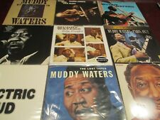 MUDDY WATERS 9 LP COLLECTION W/ RARE FOLK SINGER 180G + LIVE NEWPORT BLUES SET