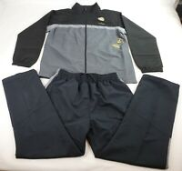 Spalding Pre-Game Hoops Woven Tracksuit Windsuit Black TOP Navy PANT Large NEW