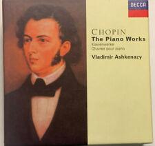 FREDERIC CHOPIN PIANO WORKS VLADIMIR ASHKENAZY 13 CD BOX SET DECCA