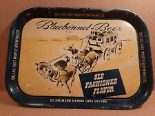Vintage Bluebonnet Advertising tray beer Sign Dallas Fort Worth brewing co Texas
