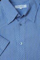Ted Baker London Men's London Blue Check Modal Casual Shirt XL XLarge