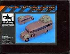 Blackdog Models 1/35 OPEL BLITZ 3.6 47 OMNIBUS RESIN ACCEORRIES SET