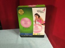 NEW Gold's Gym 22 inch body Pink Ball with Foot air pump and workout Guide
