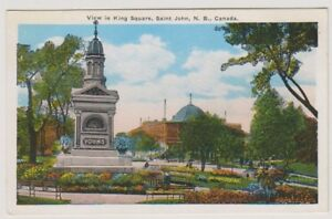 Canada postcard - View of King Square, Saint John, New Brunswick (A163)