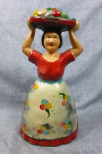 "Antique Cast Iron ""Tropical Woman with Fruit"" Door Stop"