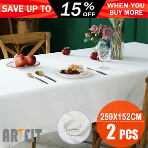 259x152cm Rectangle Polyester Tablecloth Wedding Event Party Tableware Covers