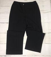 J Jill Stretch Womens Dress Pants Straight Leg Black Wool Blend Size 12P