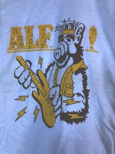 VTG 80`s ALF T Shirt ROCKING GUITAR METAL Youth Size 10-12 NWOT FOTL MUSIC TOUR