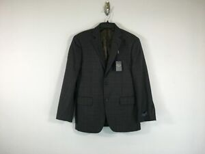 Men's Pronto Uomo 2 Button Notch Lapel Side Vent Sports Coat - Size 38S - Gray