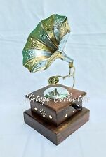 Vintage Antique Brass Gramophone Phonograph~Collectible Room Office Decorative