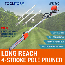 4-STROKE Pole Chainsaw Petrol Chain Saw Brush Cutter Brushcutter Tree Pruner
