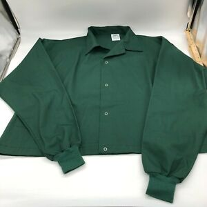 Omni industrial protective lab smock coat short length green 2X
