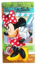DISNEY serviette de toilette MINNIE  35 x 65 cm robe rouge neuve