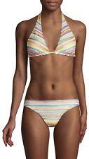 NWT Authentic MISSONI MARE Shimmer Stripe Multicolor Bikini Set SZ 40 IT $650