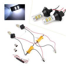 Pair 1156 BAU15S 42 SMD LED Dual-Color Switchback DRL Turn Signal Light Bulb