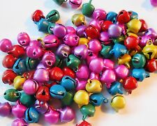 100 Jingle Bell Beads 8x10 mm Matte Colors