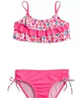 NWT Justice Swimsuit Bikini Pink Cheetah Swimwear Girls Swim 2 Piece Size 12 New