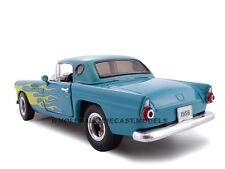 1956 FORD THUNDERBIRD STREET ROD BLUE 1:24 MODEL CAR BY UNIQUE REPLICAS 18511