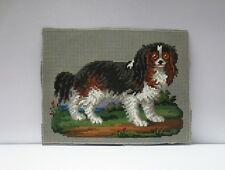 ANTIQUE BERLIN HAND PAINTED WOOL WORK EMBROIDERY TAPESTRY PATTERN DOG DESIGN