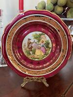 Hutschenreuther Weimar Cabinet Plate, Fragonard Burgund Courting Couple, Germany