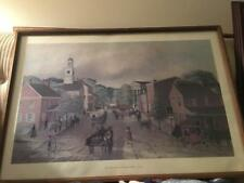 "Barclay Rubincam print ""Looking North on High Street"" 1963 West Chester Pa 1840"