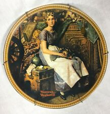 New ListingNorman Rockwell Dreaming in The Attic Collector Plate Coa & Box, Knowles 1st Ed.