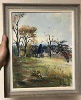 Peinture Ancien Huile sur Toile French Painting Paysage