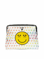 VICTORIAS SECRET PINK SMILEY BEAUTY POUCH COSMETIC BEAUTY TRAVEL BAG CASE NWT
