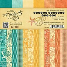 Graphic45  2 sheets, Voyage beneath the sea collection,6 X 6 PAPER PADS