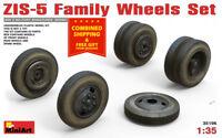 Miniart 35196 Wheels Set for Zis-5 Family Trucks WWII 1/35 Scale Plastic Models