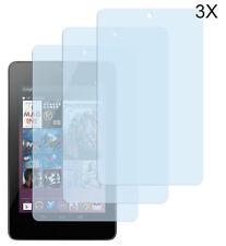 3 x Schutzfolie ASUS Google Nexus 7 (2012) Klar Folie Clear Displayschutzfolie