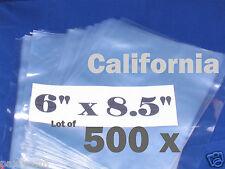 Lot Of 500 Piece Heat Shrink Wrap Film Flat Bags 6x85 Candles Pvc 6 X 85