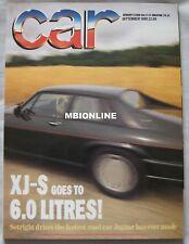 CAR magazine September 09/1989 featuring Jaguar XJR-S, Mini, Rover, Ford Granada