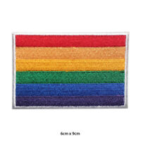 LGBT Pride Flag Embroidered Patch Iron on Sew On Badge For Clothes Bags etc