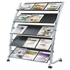 Alba 5 Shelf Single Sided Mobile Literature Display Stand 3xA4 DD5GM [ALB00930]