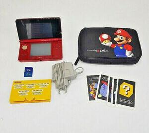 Nintendo 3DS Konsole (PAL) Rot SD Karte mit Mario Tasche & Gewährleistung