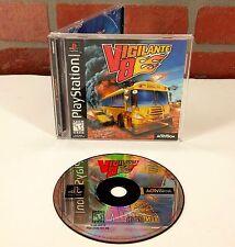 Vigilante 8 (Sony PlayStation 1, 1998) Black Label Complete Manual Case PS1