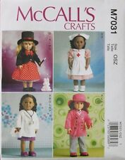 """18"""" GIRL DOLL CLOTHES NURSE DOCTOR McCall's Pattern 7031/P401 American Made NEW"""