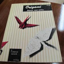 Orgami Japanese Paper Folding Book One by Florence Sakade 1960 Vintage