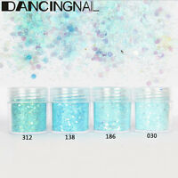 4 Pot/Set Blue Flake Chunky Glitter Powder Eye Shadow Face Tattoo Body Nail