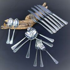 Needlepoint Beaded Artistry 16 Pieces Oneida Stainless Dorm Forks Spoons Knives