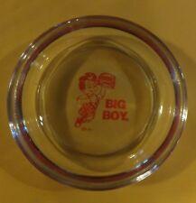 VTG BOB'S BIG BOY CLEAR ROUND GLASS ASHTRAY COASTER DINER STYLE FRISCHS SHONEYS
